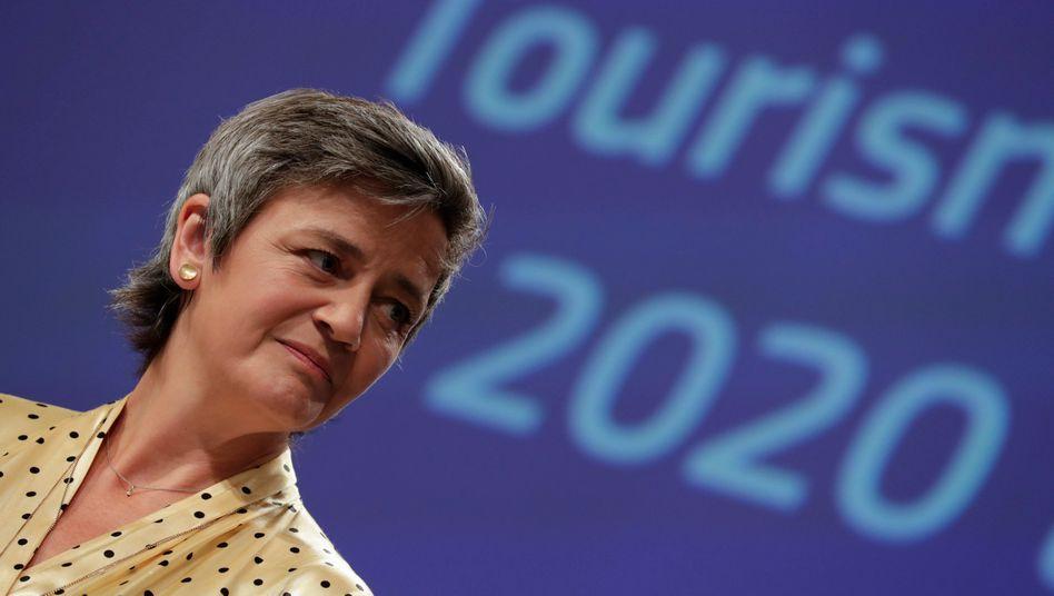 Kommissionsvizepräsidentin Margrethe Vestager: Die Grenzschließungen sollen schrittweise gelockert werden