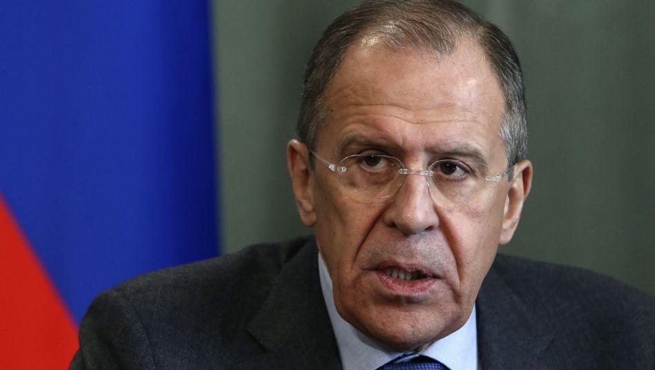 """Russischer Außenminister Lawrow: Westen soll """"Dialog ohne Beschuldigungen"""" führen"""