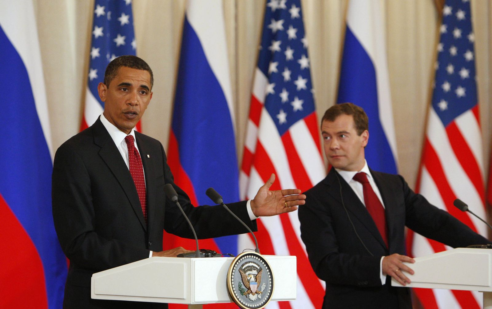 Obama Medwedew