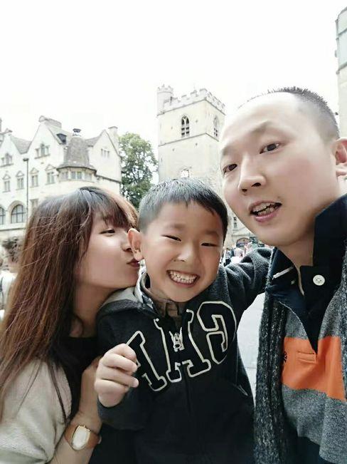 Mutter Han Wei, Sohn Li Minghan und Vater Li Jinpeng