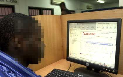Anietie Akpan at work in Lagos.
