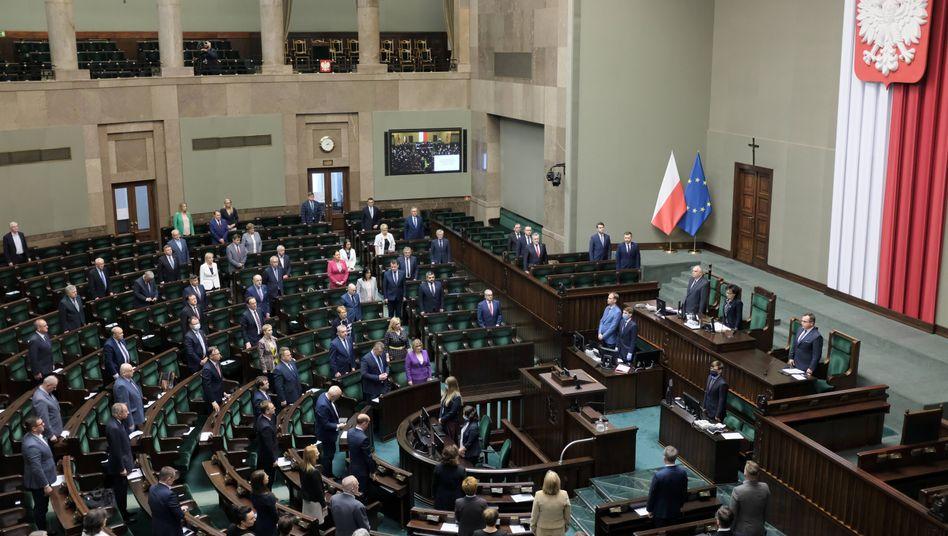 Der Plenarsaal des Sejm in Warschau
