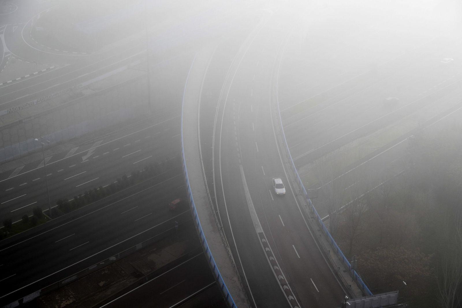 Fog in Madrid