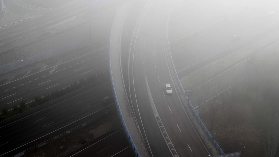 Autobahn bei Madrid
