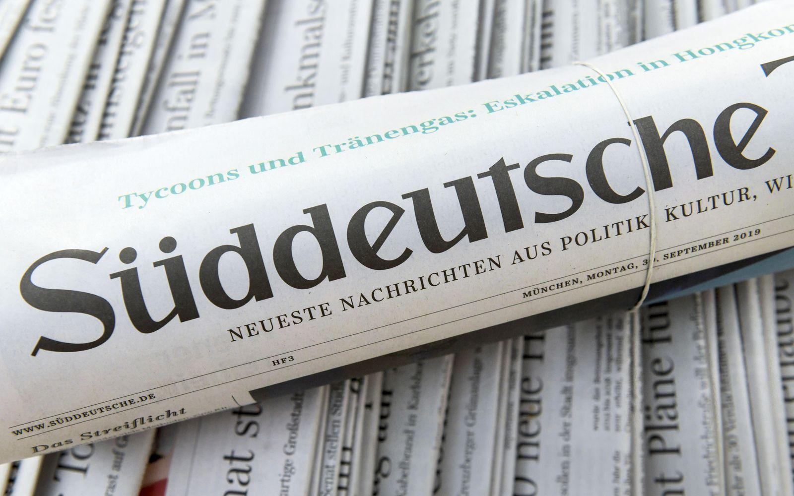 """Tageszeitung """"Süddeutsche Zeitung"""""""