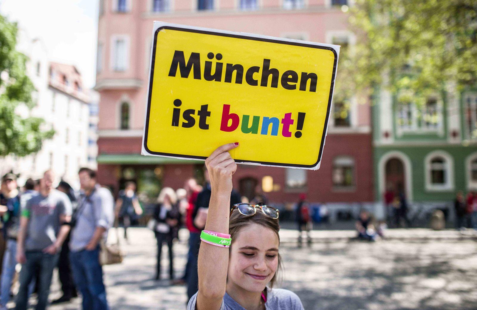 EINMALIGE VERWENDUNG Müchen Bayern / Muenchen ist bunt
