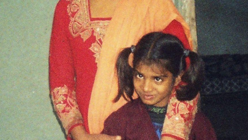 Asia Bibi auf einem alten Familienfoto