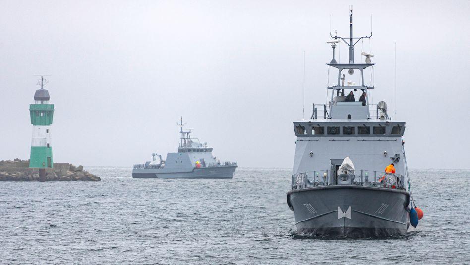 In Deutschland gebaute Patrouillenboote für Ägypten (im November 2020)