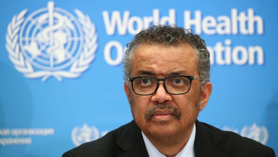 Mahnt zu Vorsicht bei Medikamententests an: Tedros Adhanom Ghebreyesus