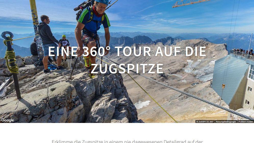 Zugspitze in 360-Grad-Panoramen: Per Mausklick zum Gipfel