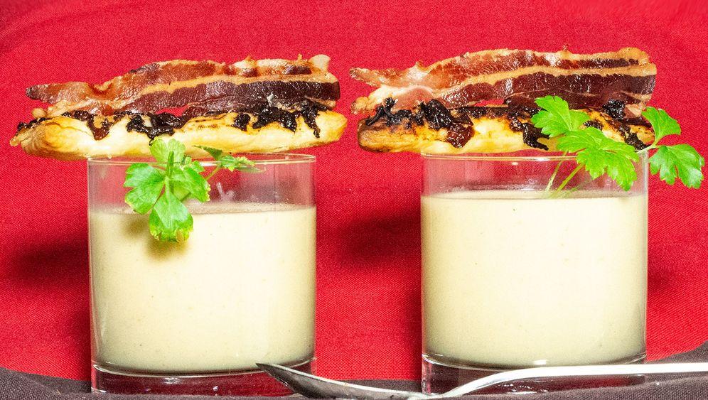 Fotostrecke: Rezept für Kartoffelsuppe mit Zwetschgen-Speck-Sticks