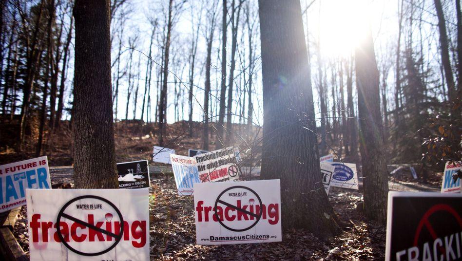 Fracking-Protest in den USA: Auch in Deutschland Streitthema