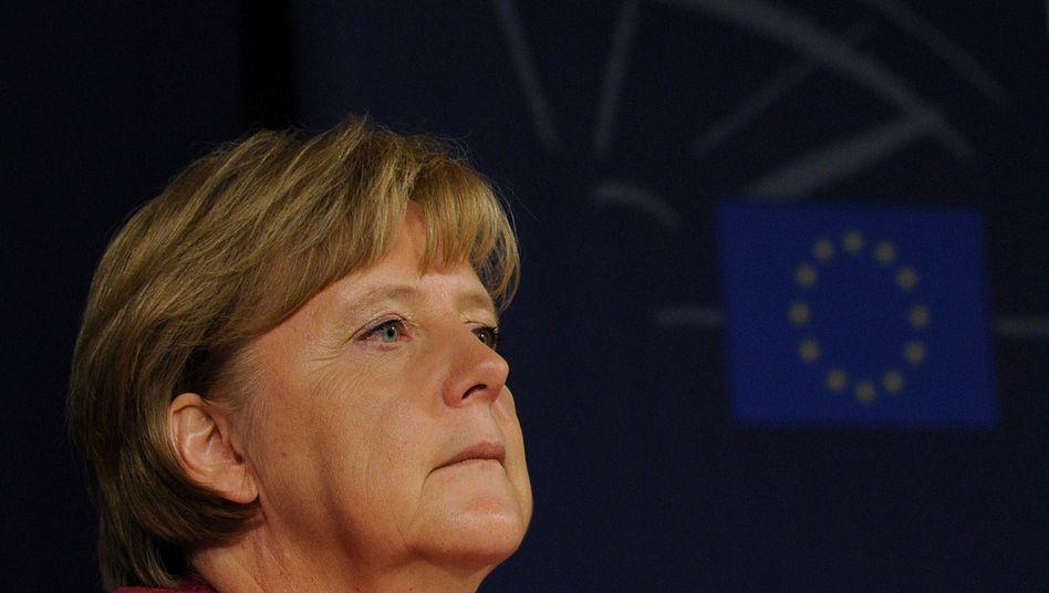 Chancellor Angela Merkel doesn't like euro bonds.