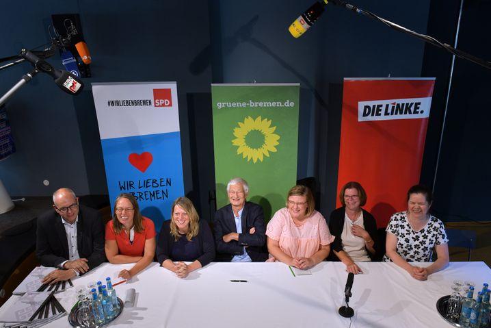 SPD, Grüne und Linke unterzeichnen Koalitionsvertrag in Bremen (13. August 2019)