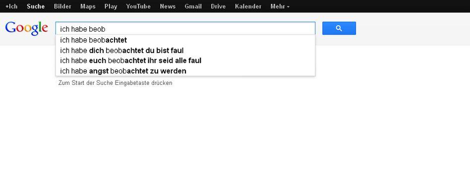 Google-Gedicht: Ein Vierzeiler über Überwachung