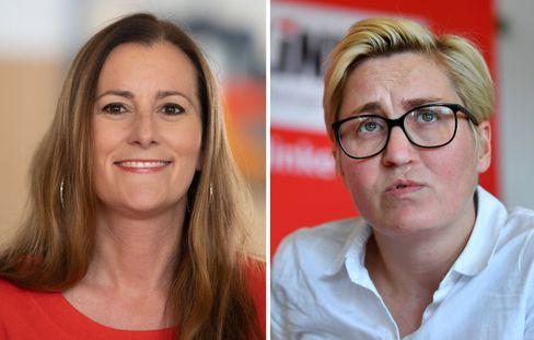 Janine Wissler (l.) und Susanne Hennig-Wellsow