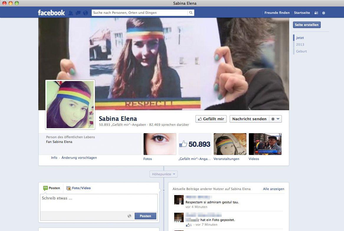 SCREENSHOT Facebook/ Sabina Elena