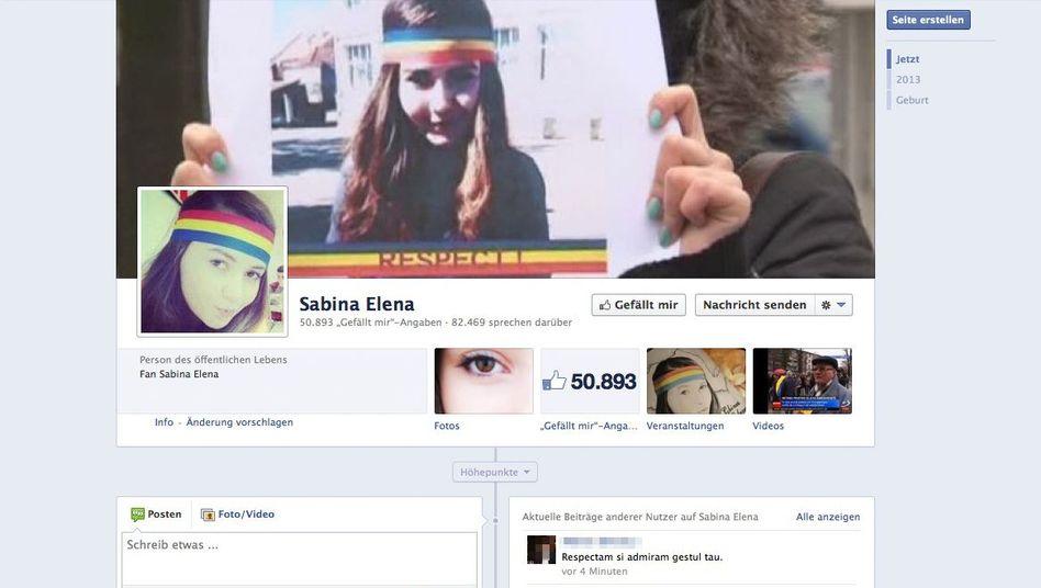 Facebook-Unterstützung für ein Stirnband: Rumänien im Rausch der Trikolore