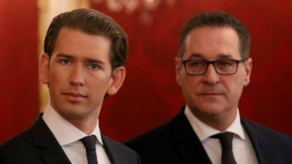 """Sebastian Kurz, Heinz-Christian Strache (Archivbild): """"Abscheulich, menschenverachtend"""""""