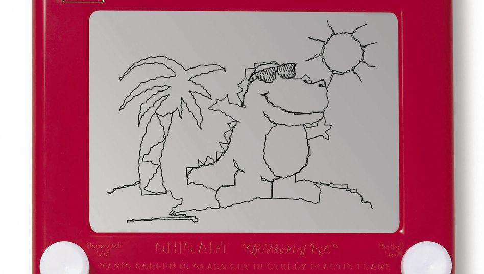 Klassisches Etch A Sketch: Das in den sechziger Jahren erfundene Zeichenbrett genoss über lange Zeit Kultstatus als Kinderspielzeug und Kunstwerkzeug