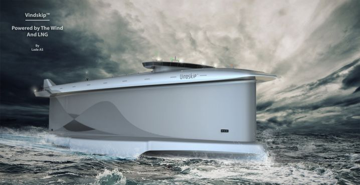 Das gesamt Schiff hat eine ähnliche Form wie ein Segel