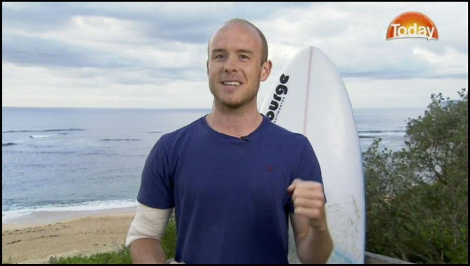 Der britische Surfer Charlie Fry