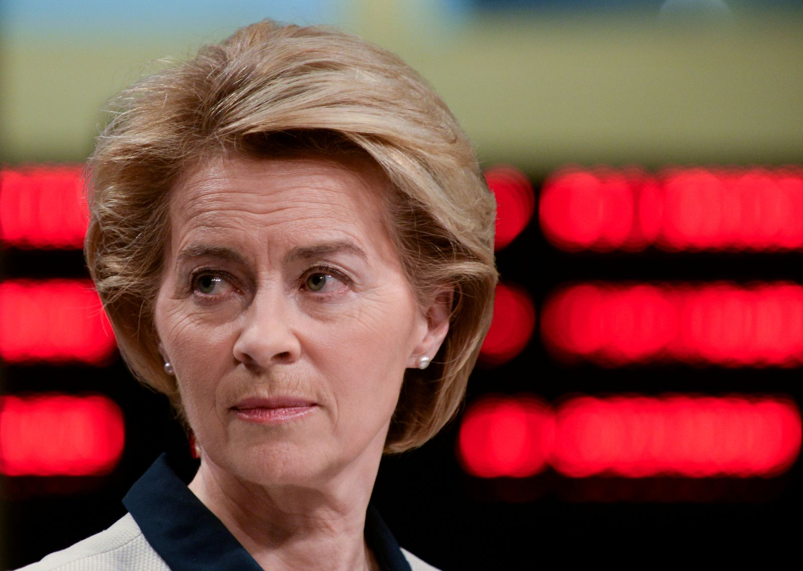 FILE PHOTO: EU Commission President Ursula von der Leyen presents the EU executive's economic response to the coronavirus epidemic, in Brussels
