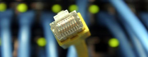 Netzwerkkabel und Stecker: Nicht jeder Bürger darf ausgeschnüffelt werden, aber Verbrecher und Verdächtige überwacht