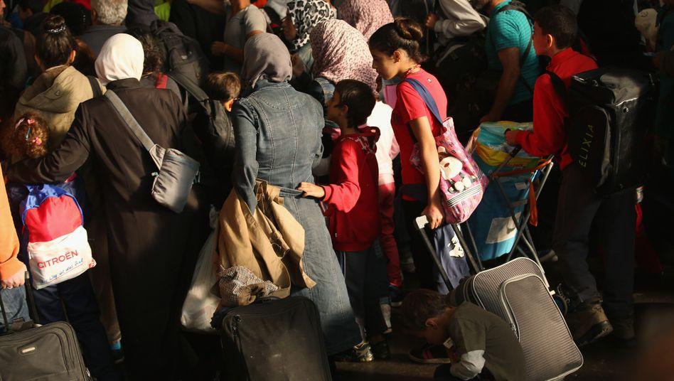 Ankommende Flüchtlinge in München (September 2015)