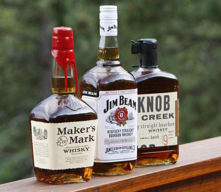 Bekannte Bourbon-Marken: Pur leicht zu ersetzen, als Misch-Bestandteil schwerer