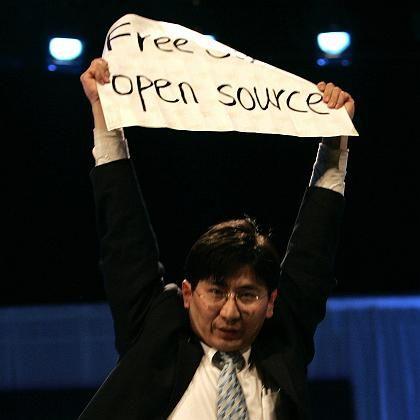 Linux-Anhänger Wang Yang: Plakativer Protest