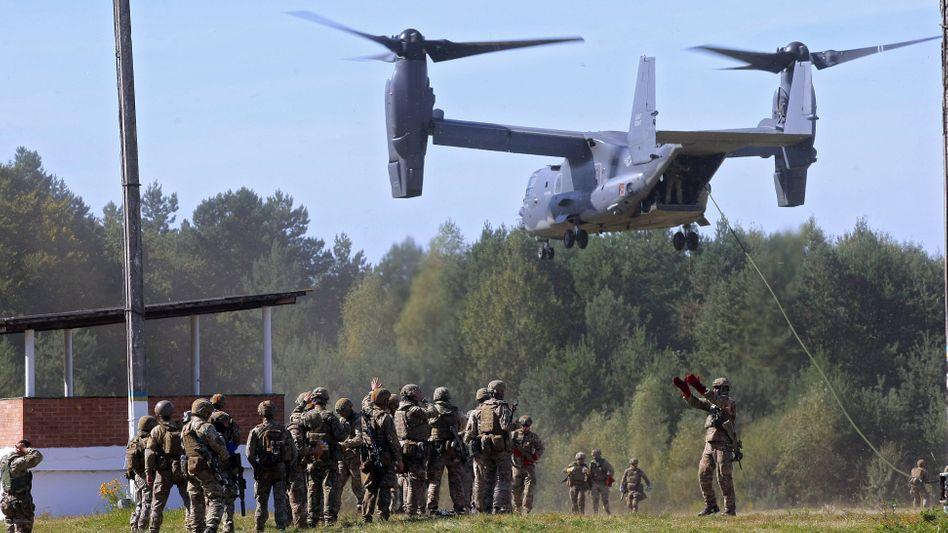 Ukrainische Soldaten bei einer Übung (2020): »Wir brauchen militärische Unterstützung«