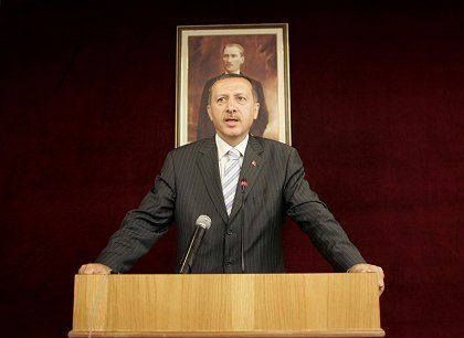 """Turkish Prime Minister Recep Tayyip Erdogan: """"Freedom of religion and conscience is a part of democracy that cannot be neglected."""""""