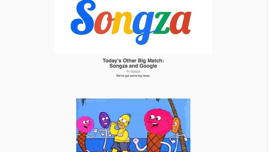 Songza-Logo (zur Feier der Übernahme in den Google-Farben): Musik für unter der Dusche