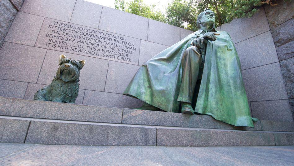 Denkmal von Franklin Delano Roosevelt: Hätte sich eine bizarre Idee des 19. Jahrhunderts durchgesetzt, hätte man verstorbene berühmte Persönlichkeiten selbst aufstellen können