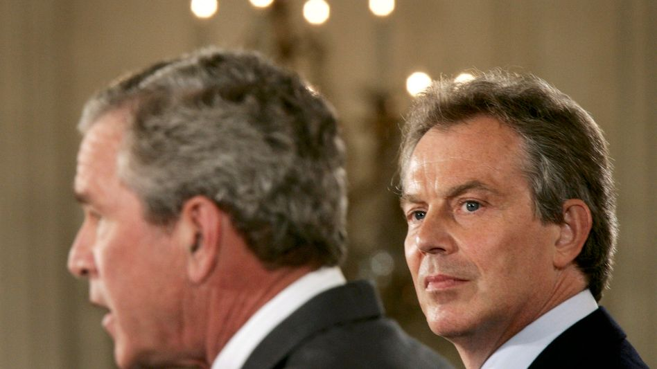 George W. Bush und Tony Blair