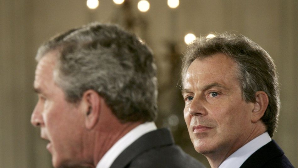 George W. Bush und Tony Blair
