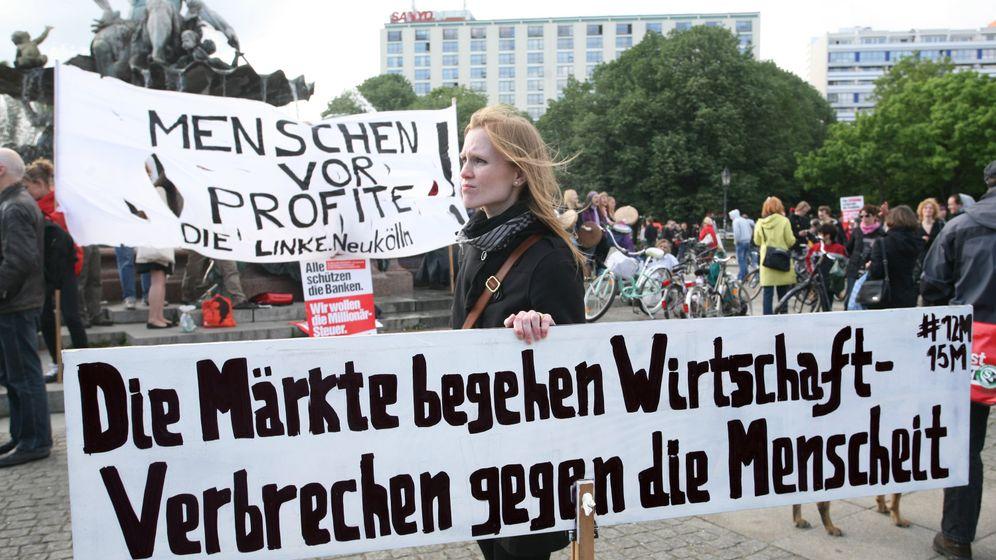 """""""Occupy""""-Jubiläum in Europa: Tanz unterm Rettungsschirm"""