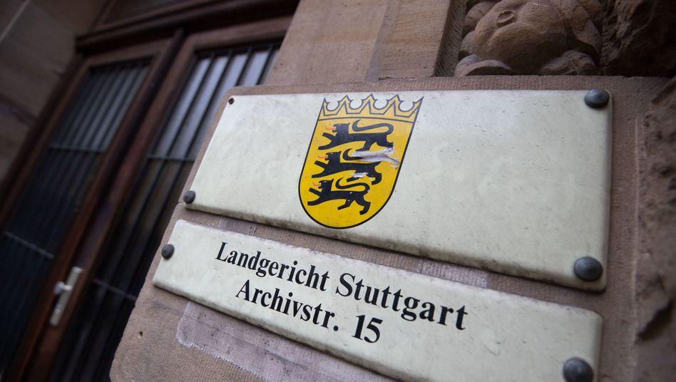 Eingang zum Landgericht Stuttgart (Archiv)
