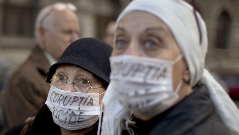 Proteste gegen Korruption in Rumäniens Gesundheitswesen (Mai 2016)