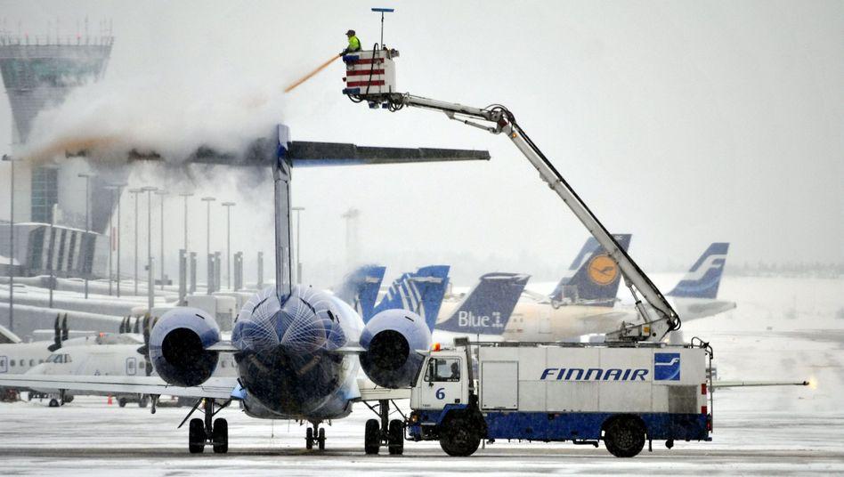 """Enteisung auf dem Airport von Helsinki: """"Wir schließen nur im absoluten Ausnahmezustand"""""""