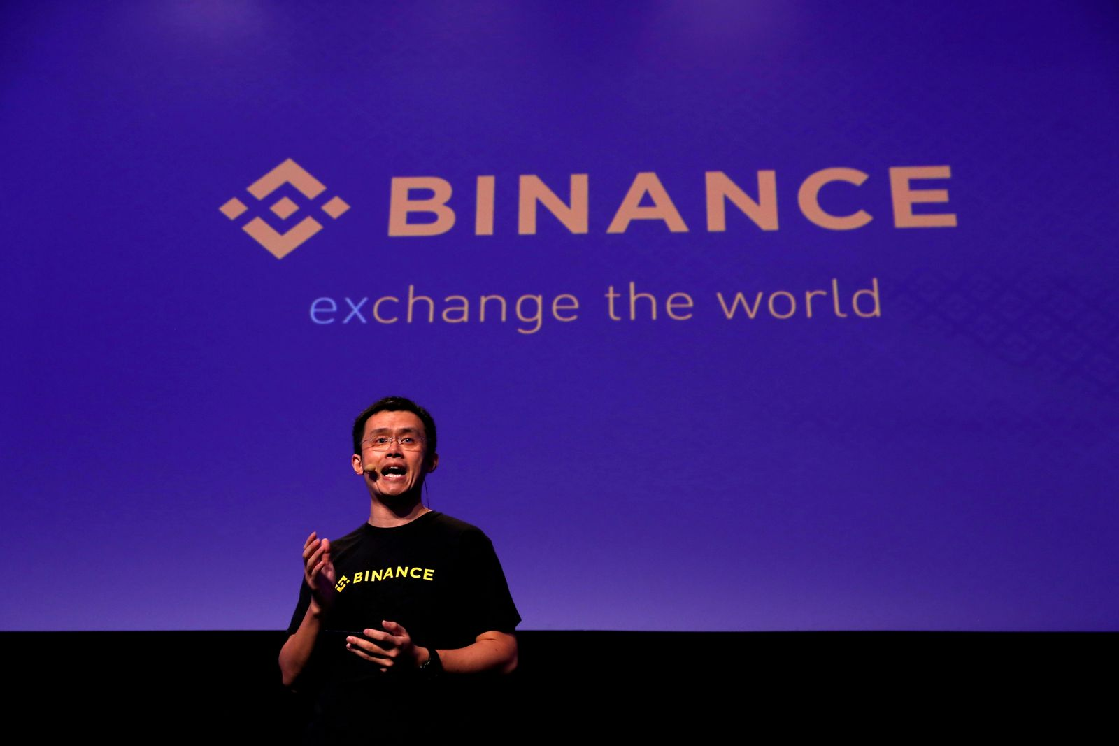 FILE PHOTO: Changpeng Zhao, CEO of Binance, speaks at the Delta Summit, Malta's official Blockchain and Digital Innovation event promoting cryptocurrency, in St Julian's