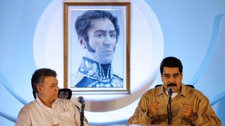 Juan Manuel Santos und Nicolás Maduro
