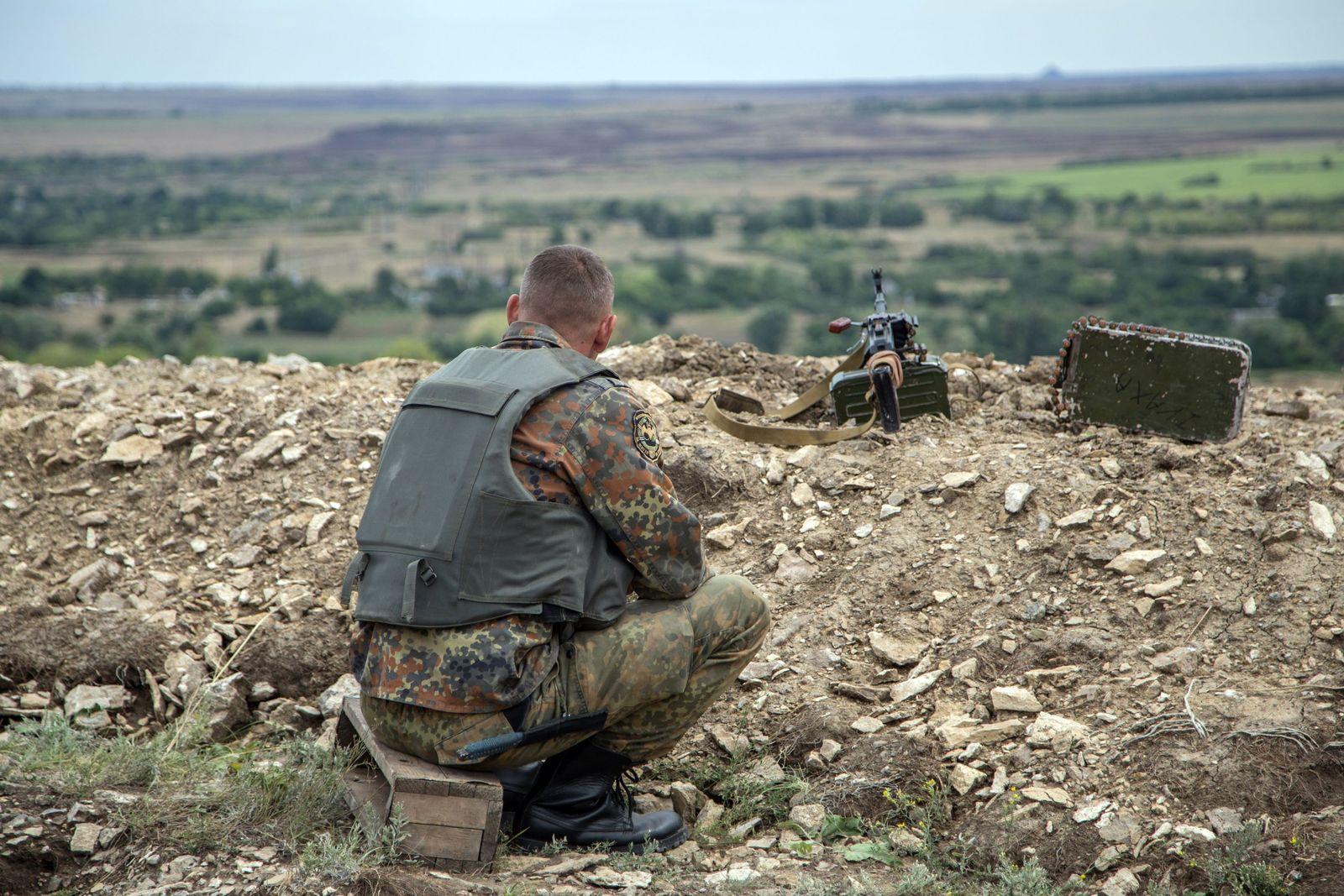 UKRAINE Russland Soldat