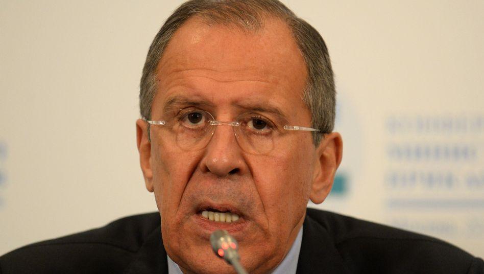 """Russischer Außenminister Lawrow: """"Wenn man uns angreift, werden wir sicher reagieren"""""""