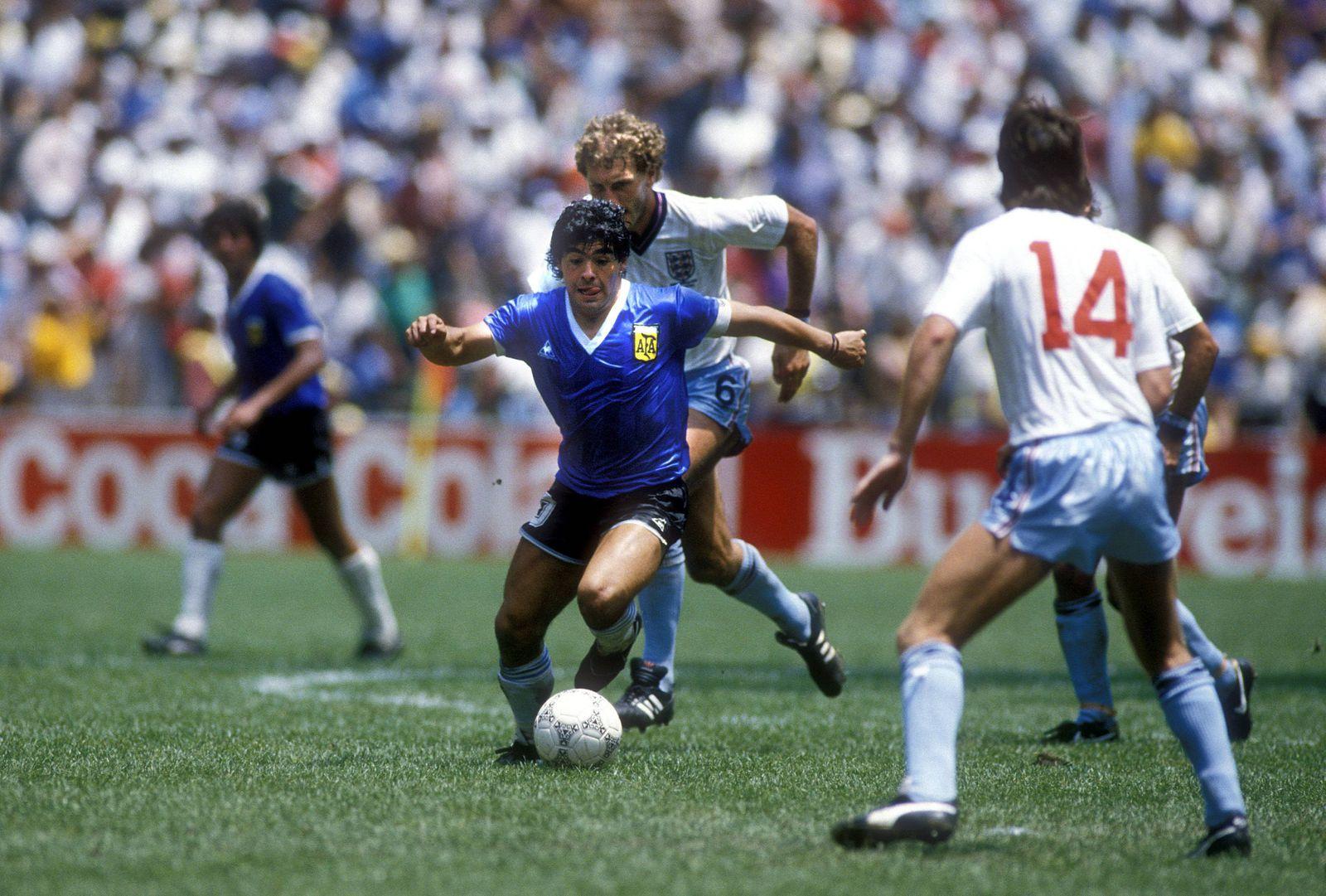 MARADONA Diego Armando Team Argentinien Halbfinale England- Argentinien am 22.06.1986 in Mexico City FIFA Fussball Welt
