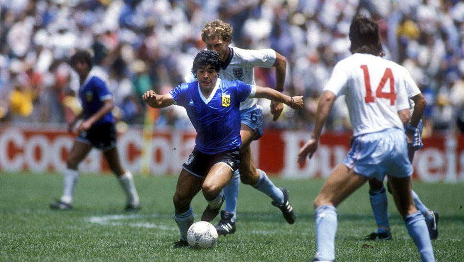 Viel mehr als ein Torschütze: Diego Maradona im WM-Spiel gegen England 1986