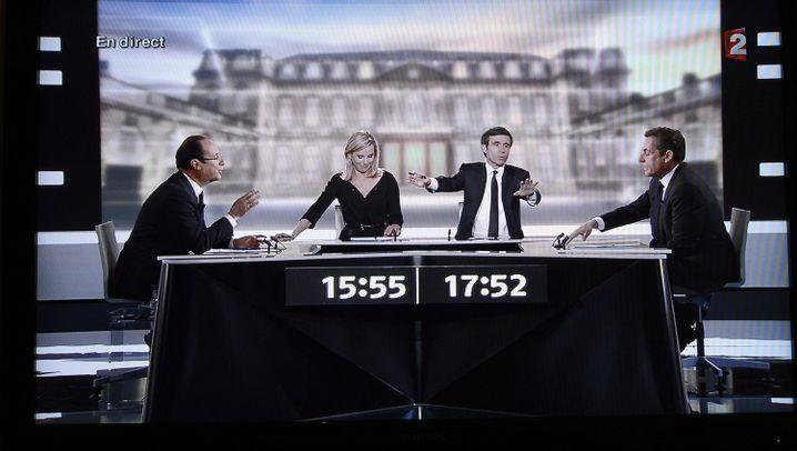 """TV-Duell in Frankreich: """"Sie kleiner... Verleumder!"""""""