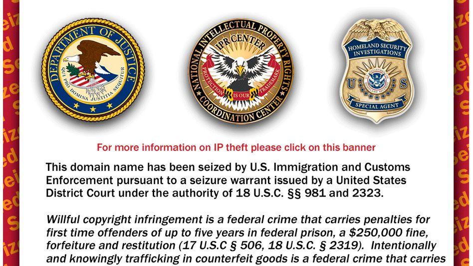 Beschlagnahmung: US-Ermittler ziehen die Domains ausländischer Anbieter ein