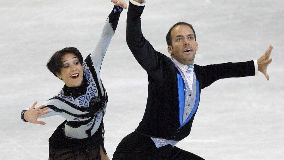 Sarah Abitbol und Stephane Bernadis in Lausanne 2002, bei der Europameisterschaft